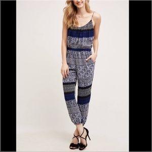 Anthropologie Lilka Paisley Blue Jumpsuit